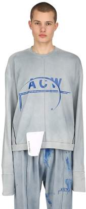 A-Cold-Wall* Logo Printed Cotton Jersey Sweatshirt