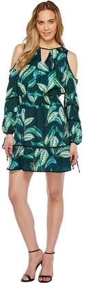 Adelyn Rae Havana Woven Printed Shirtdress Women's Dress