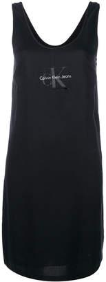 Calvin Klein Jeans logo print tank dress