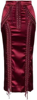 Dolce & Gabbana Corset Silk Midi Skirt