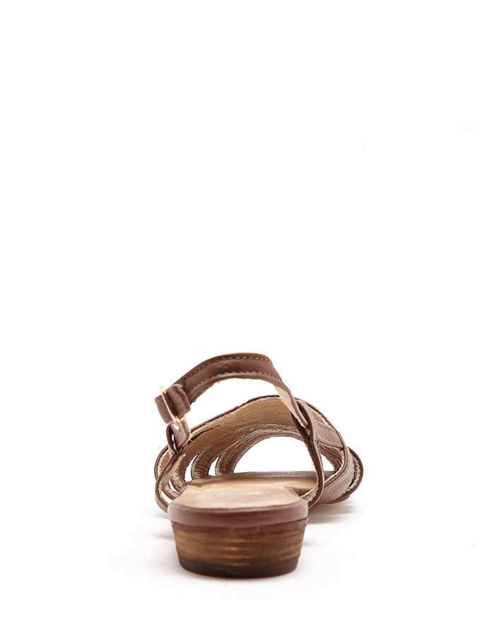 American Apparel Leather Cut-Out Sling Back Sandal