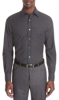 Canali Classic Fit Herringbone Dress Shirt
