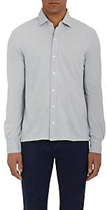 Piattelli MEN'S COTTON PIQUÉ SHIRT-SILVER SIZE XXL