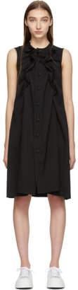 Comme des Garcons Black Wool Ruffle Dress