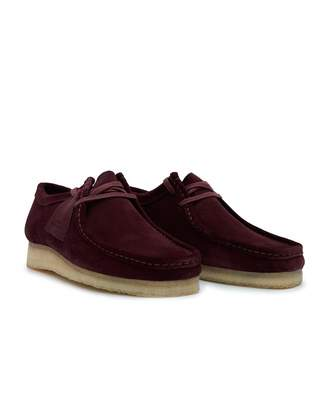 Clarks Wallabee Suede Shoes Colour  BORDEAUX fb6b6d2cb98