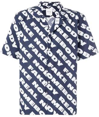 Wood Wood text print short-sleeve shirt