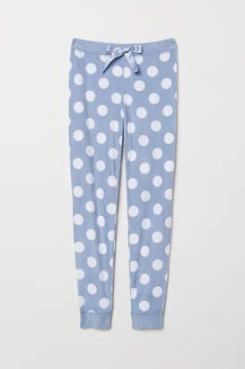 H&M Fleece Pajama Pants - Blue