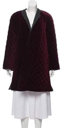 Valentino Quilted Velvet Coat