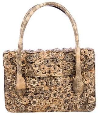 Alaia Floral-Embellished Handle Bag
