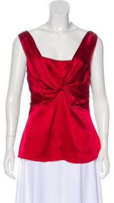 John Galliano Silk Sleeveless Top