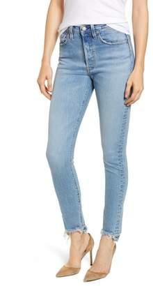 Levi's 501(R) High Waist Nibbled Hem Skinny Jeans