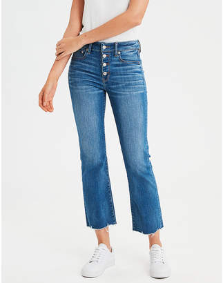 American Eagle AE High-Waisted Crop Flare Jean