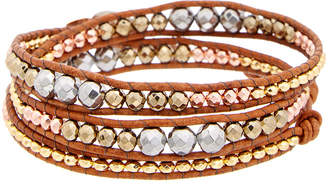 Chan Luu Silver Gemstone Leather Bracelet