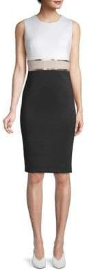 Calvin Klein Colourblock Sleeveless Sheath Dress