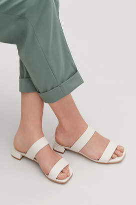 Cos TWO-STRAP LEATHER SANDALS