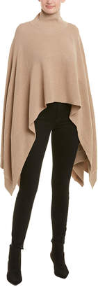 BCBGMAXAZRIA Engineer Rib Wool-Blend Poncho