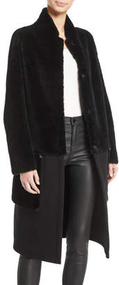 Emporio Armani Lamb-Shearling Coat