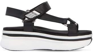 Prada 55mm Leather Wedge Sandals