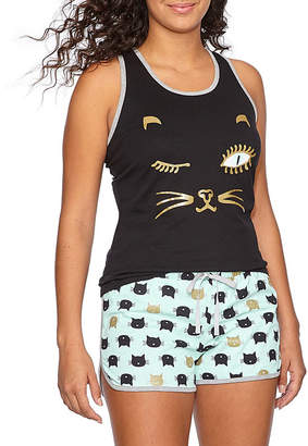 Pj Couture My Favorite Critters Shorts Pajama Set-Juniors