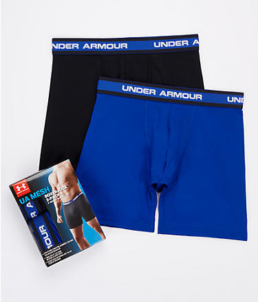 Under Armour Mesh 6'' Boxerjock Boxer Brief 2-Pack