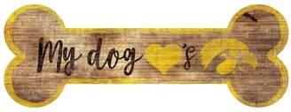 Kohl's Iowa Hawkeyes Dog Bone Wall Sign