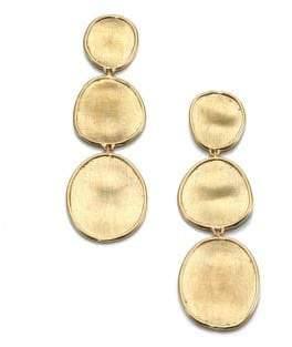 Marco Bicego Lunaria 18K Yellow Gold Triple-Drop Earrings