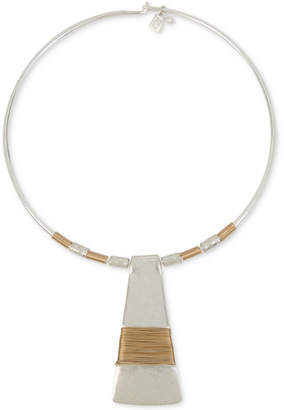 "Robert Lee Morris Soho Two-Tone Wire-Wrapped 16"" Pendant Necklace"