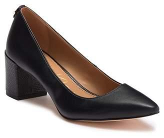 Calvin Klein Natalynn Kansas Leather Block Heel Pump
