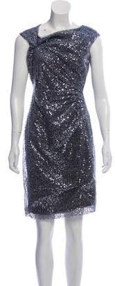 Chaps Sequined Ruched-Accented Dress