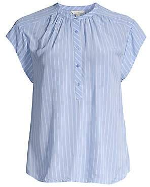 Joie Joie Women's Hassie Striped Cap-Sleeve Blouse