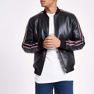 River Island Black tipped bomber jacket