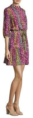 Saloni Tyra Silk Popover Dress