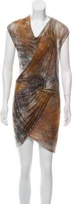 Helmut Lang Draped Mini Dress