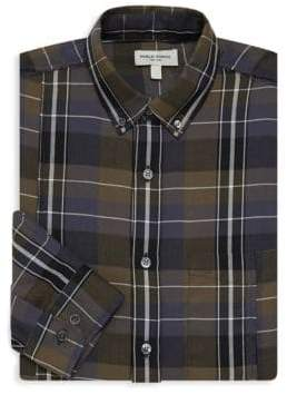 Public School Plaid Cotton Button-Down Shirt