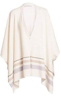Fabiana Filippi Women's Virgin Wool, Silk & Cashmere Sweater Cape