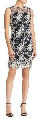 Lauren Ralph Lauren Floral-Embroidered Mesh Dress