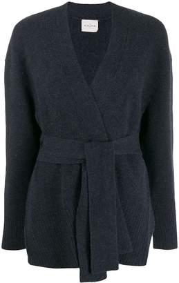 Le Kasha oxford wrap-around cardigan
