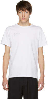 Saturdays NYC White Rag Left T-Shirt
