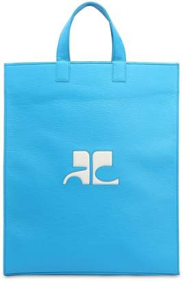 Courreges Logo Patch Matte Vinyl Tote Bag