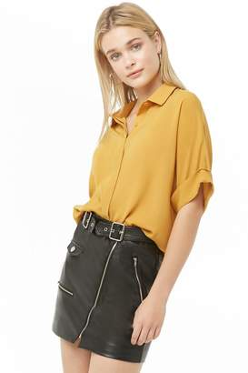 Forever 21 Dolman Button-Front Shirt