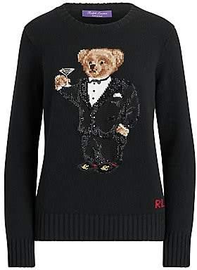 Ralph Lauren Women's Martini Bear Cashmere Crewneck Sweater