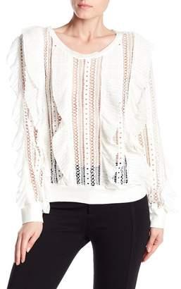Beulah Crochet Ruffle Long Sleeve Shirt