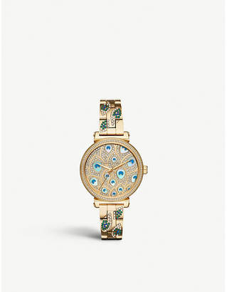 Michael Kors MK3945 Sofie gold-toned stainless steel and crystal watch