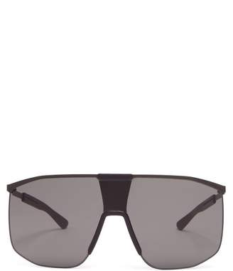 Mykita Yarrow Mh1 D Frame Metal Sunglasses - Mens - Black