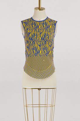 Esteban Cortazar Sleeveless zebra top
