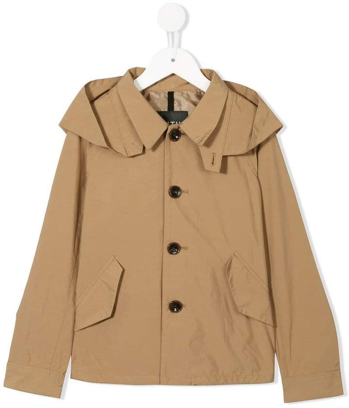 Fith hooded trench jacket