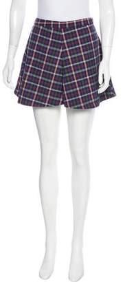 Reformation Plaid Mini Skirt