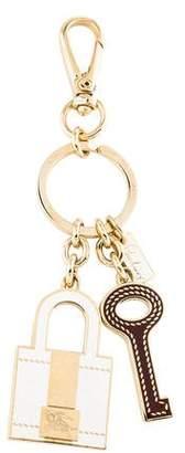 Burberry Key & Lock Charm Keychain