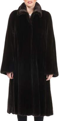 Tsoukas Mink Fur Knee-Length Swing Coat