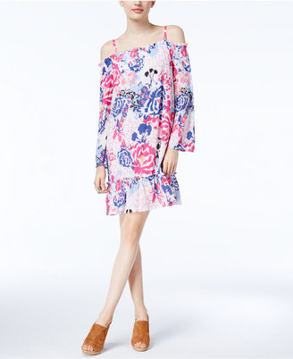 Inc International Concepts Off-The-Shoulder Shift Dress, Created for Macy's $99.50 thestylecure.com